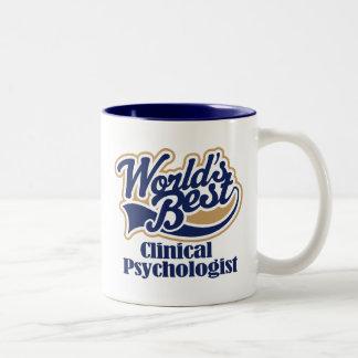 Regalo del psicólogo clínico taza de café de dos colores