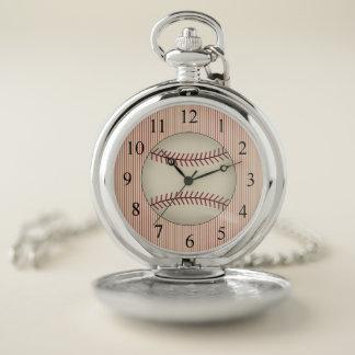Regalo del reloj de bolsillo del béisbol del