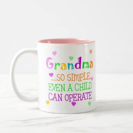 Regalo divertido de la abuela tazas de café