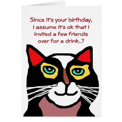 Regalo divertido de la tarjeta de cumpleaños del g