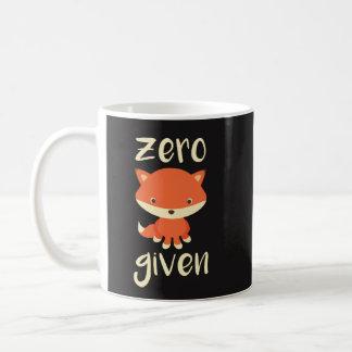 Regalo divertido de la taza de café - Fox cero