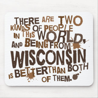 Regalo (divertido) de Wisconsin Tapete De Ratones