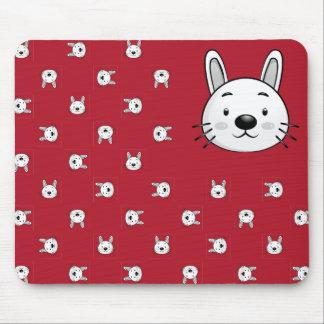 Regalo divertido del conejo tapete de ratón