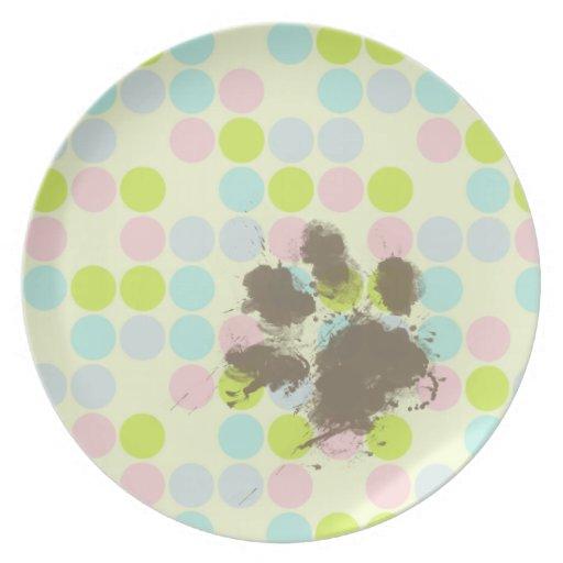 Regalo divertido del dueño del perro; Colores en c Platos De Comidas