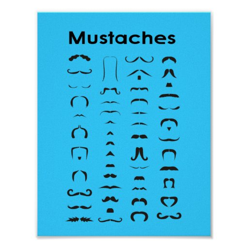 Regalo divertido del poster de la carta del bigote