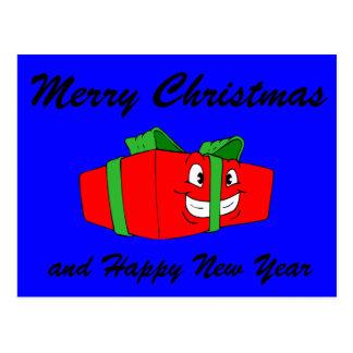 Regalo divertido del regalo de Navidad del dibujo Postal