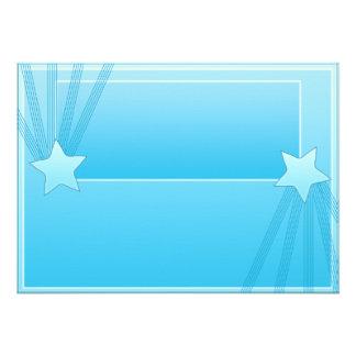 Regalo elegante del special de las estrellas azule invitacion personal