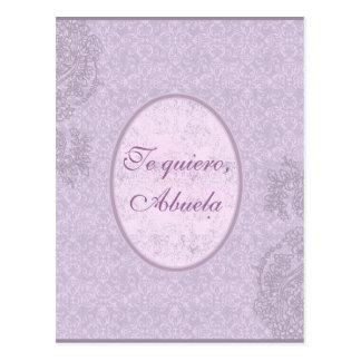 Regalo elegante para abuela tarjetas postales