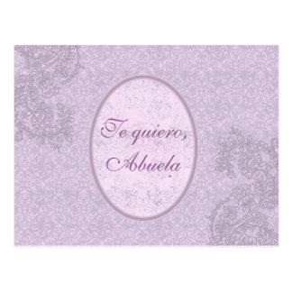 Regalo elegante para abuela. tarjeta postal