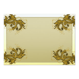 Regalo especial floral expresivo de oro oscuro anuncio personalizado