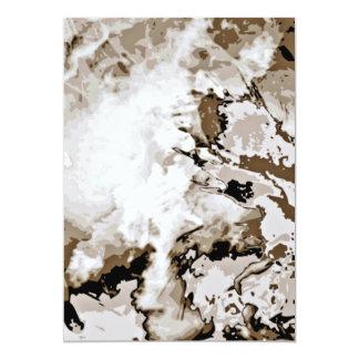 Regalo expresivo del special del arte moderno invitación 12,7 x 17,8 cm