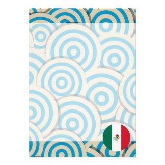 Regalo femenino de la bandera mexicana invitación 12,7 x 17,8 cm