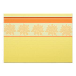 regalo floral amarillo del vintage invitaciones personales