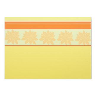 regalo floral amarillo del vintage invitación 12,7 x 17,8 cm
