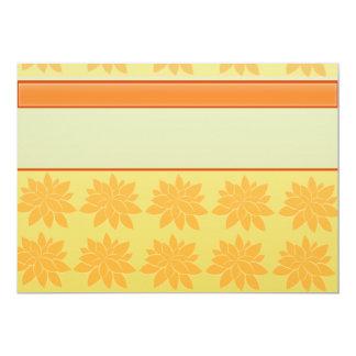 Regalo floral anaranjado del vintage invitación 12,7 x 17,8 cm