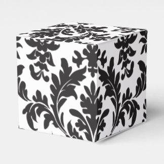 Regalo floral blanco y negro del banquete de boda caja de regalos