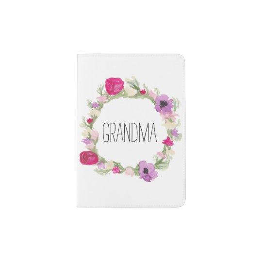 Regalo floral del día de madre del pasaporte de la portapasaportes