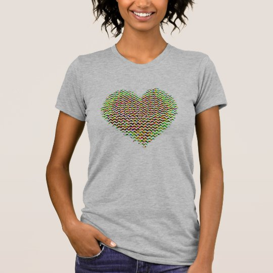 regalo-idea colorida del el día de San Valentín Camiseta