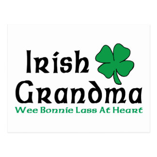 Regalo irlandés de la abuela postal