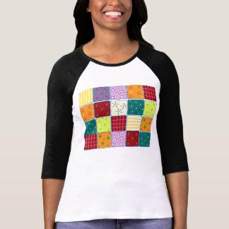 Regalo lindo de la camiseta del modelo de mosaico