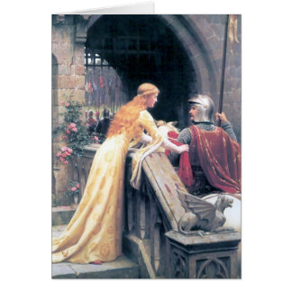 Regalo medieval de la pintura del castillo del tarjeta