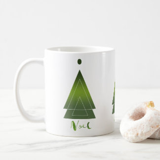 Regalo moderno de Noel del árbol de navidad del Taza De Café