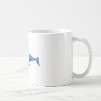Regalo náutico del mamífero marino de la ballena j taza de café
