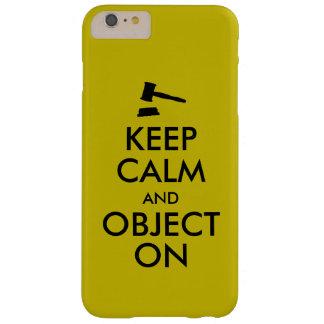 Regalo para el estudiante de Derecho o el profesor Funda Para iPhone 6 Plus Barely There