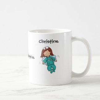 Regalo para la enfermera - ángel en disfraz tazas de café