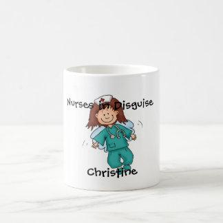 Regalo para la enfermera - ángel en disfraz taza clásica