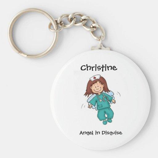 Regalo para la enfermera - personalice con nombre llaveros personalizados