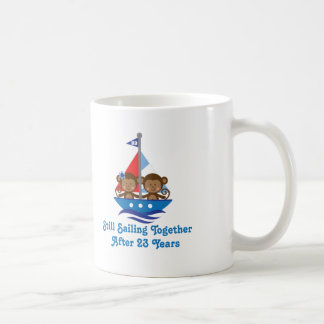 Regalo para los 23ro monos del aniversario de boda tazas de café