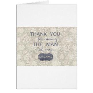 Regalo perfecto para la suegra tarjeta de felicitación