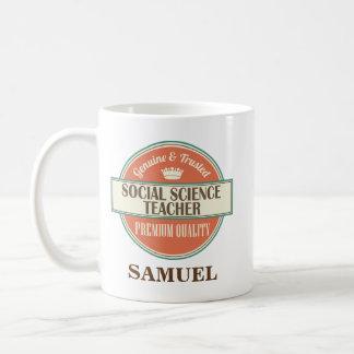 Regalo personalizado de la taza del profesor de