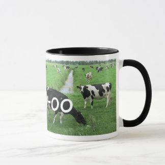 Regalo personalizado de la vaca: Taza de la leche