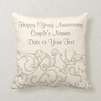 Regalo personalizado del aniversario de boda por cojín decorativo