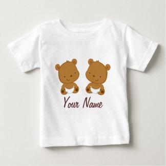 Regalo personalizado oso gemelo del bebé camisas