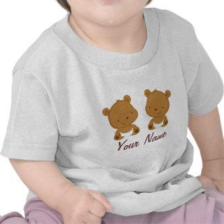 Regalo personalizado oso gemelo del bebé camisetas