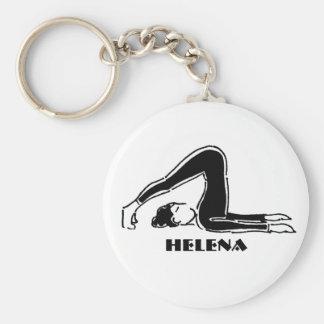 Regalo personalizado para los amantes de Pilates Llavero Redondo Tipo Chapa