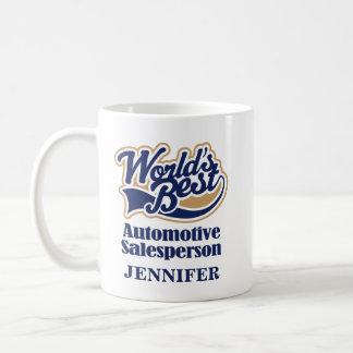 Regalo personalizado vendedor automotriz de la taza de café