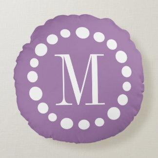 Regalo redondo púrpura de la decoración del hogar cojín redondo