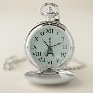Regalo retro del reloj de bolsillo de la torre