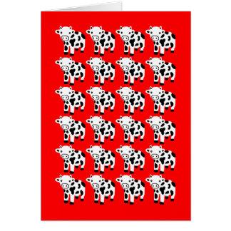 Regalo rojo lindo de la tarjeta de felicitación