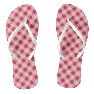 Regalo rojo retro de las sandalias de los