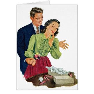 Regalo romántico de la sorpresa de la datación del tarjeta de felicitación