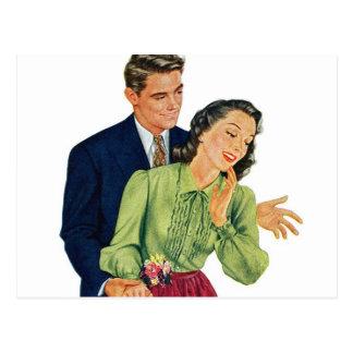 Regalo romántico de la sorpresa de la datación del tarjetas postales
