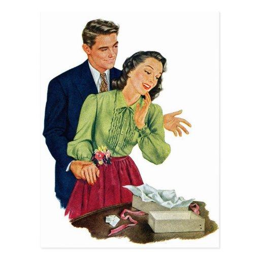 Regalo romántico de la sorpresa de la datación del postales