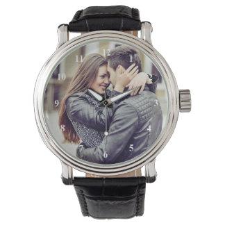 Regalo romántico el | su foto personal con números reloj