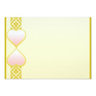 Regalo rosáceo precioso de la tarjeta del día de invitación 12,7 x 17,8 cm
