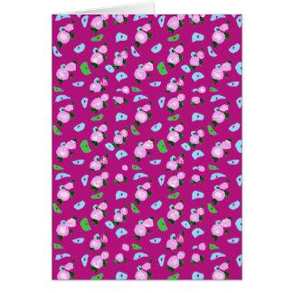 Regalo rosado lindo de la tarjeta de felicitación